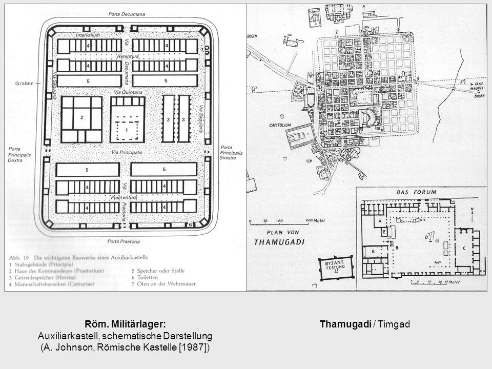 Röm. Militärlager: Auxiliarkastell, schematische Darstellung (A