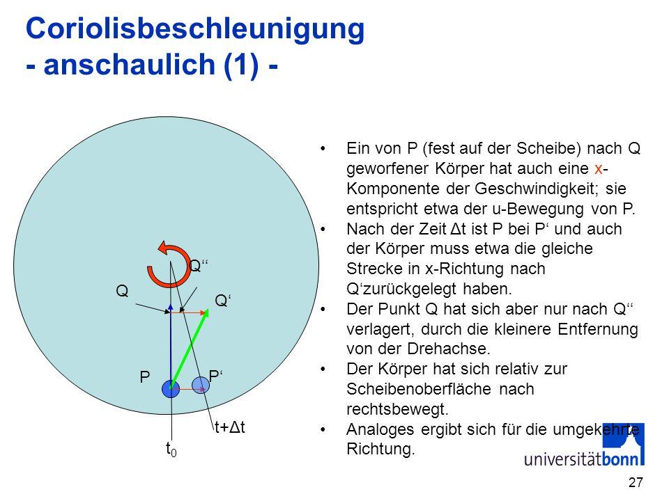 Coriolisbeschleunigung - anschaulich (1) -