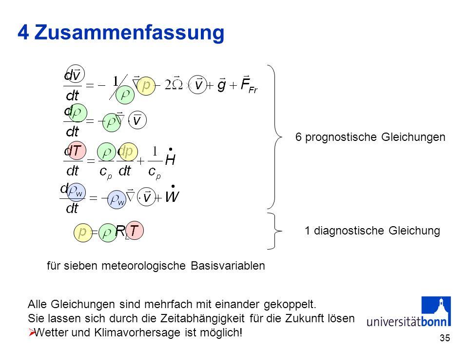 4 Zusammenfassung 6 prognostische Gleichungen