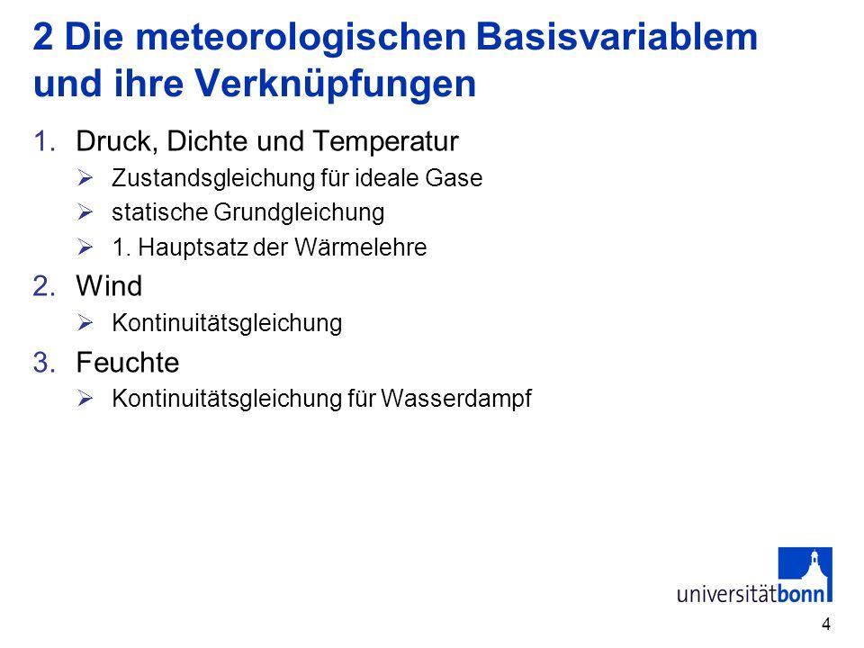 2 Die meteorologischen Basisvariablem und ihre Verknüpfungen