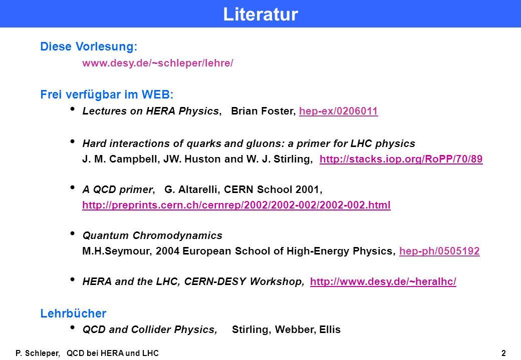 Literatur Diese Vorlesung: Frei verfügbar im WEB: Lehrbücher