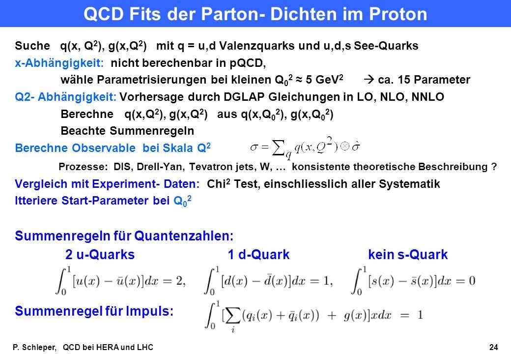QCD Fits der Parton- Dichten im Proton