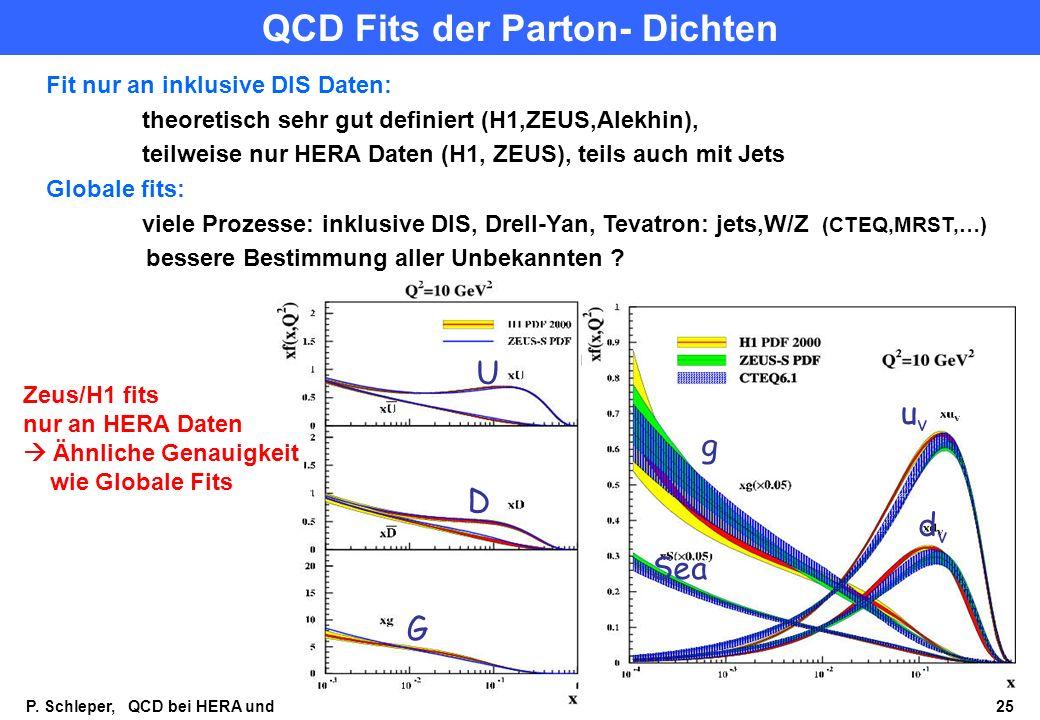 QCD Fits der Parton- Dichten
