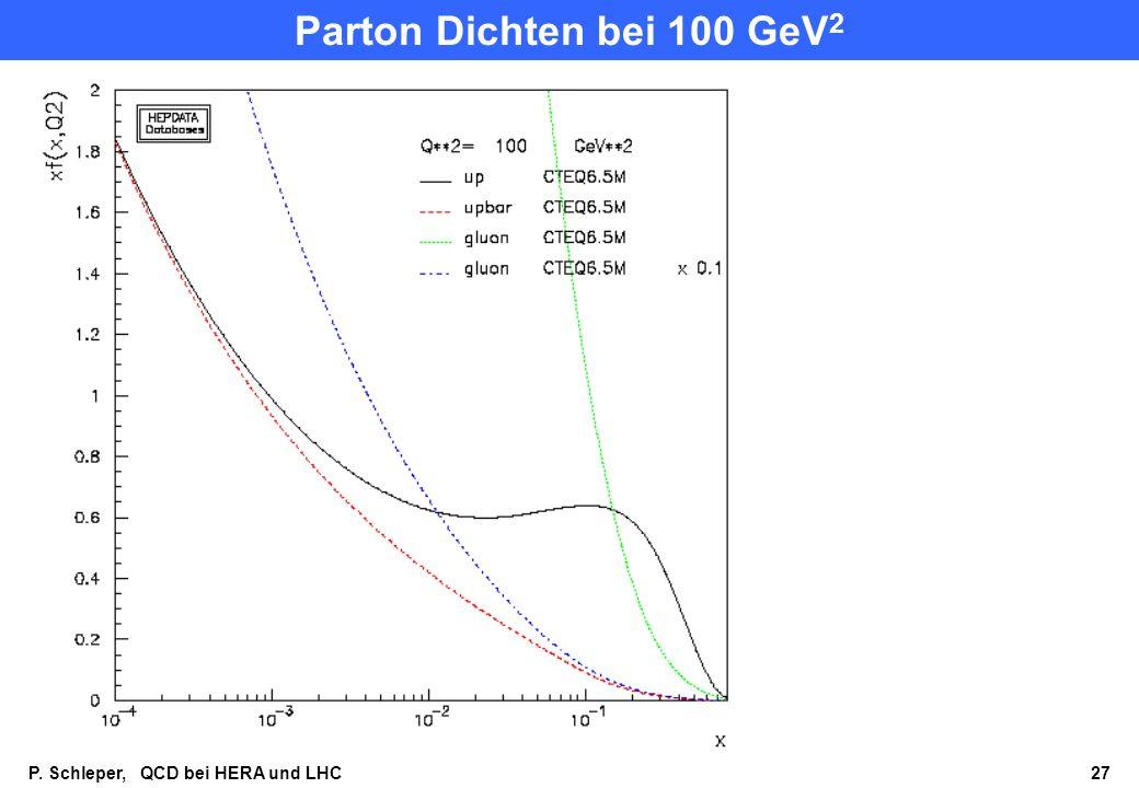 Parton Dichten bei 100 GeV2