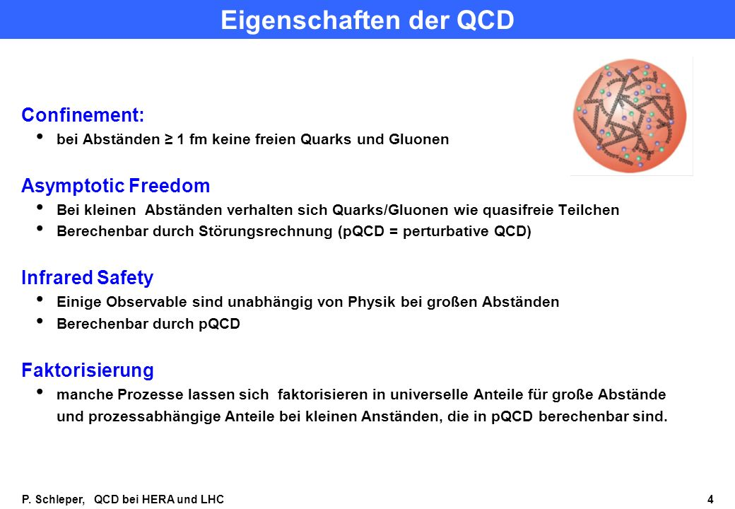 Eigenschaften der QCD Confinement: Asymptotic Freedom Infrared Safety