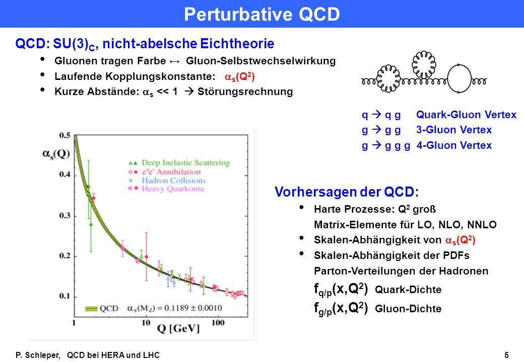Perturbative QCD QCD: SU(3)C, nicht-abelsche Eichtheorie