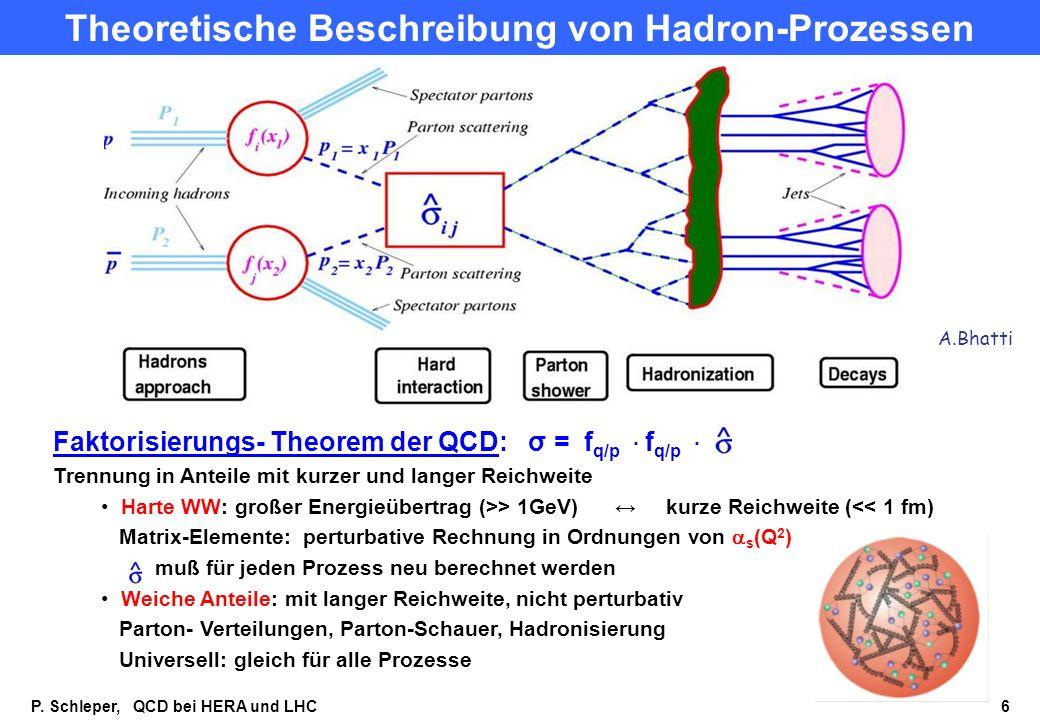 Theoretische Beschreibung von Hadron-Prozessen