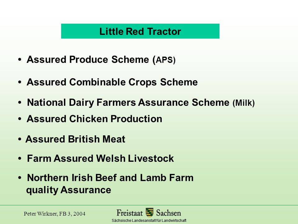 • Assured Produce Scheme (APS)