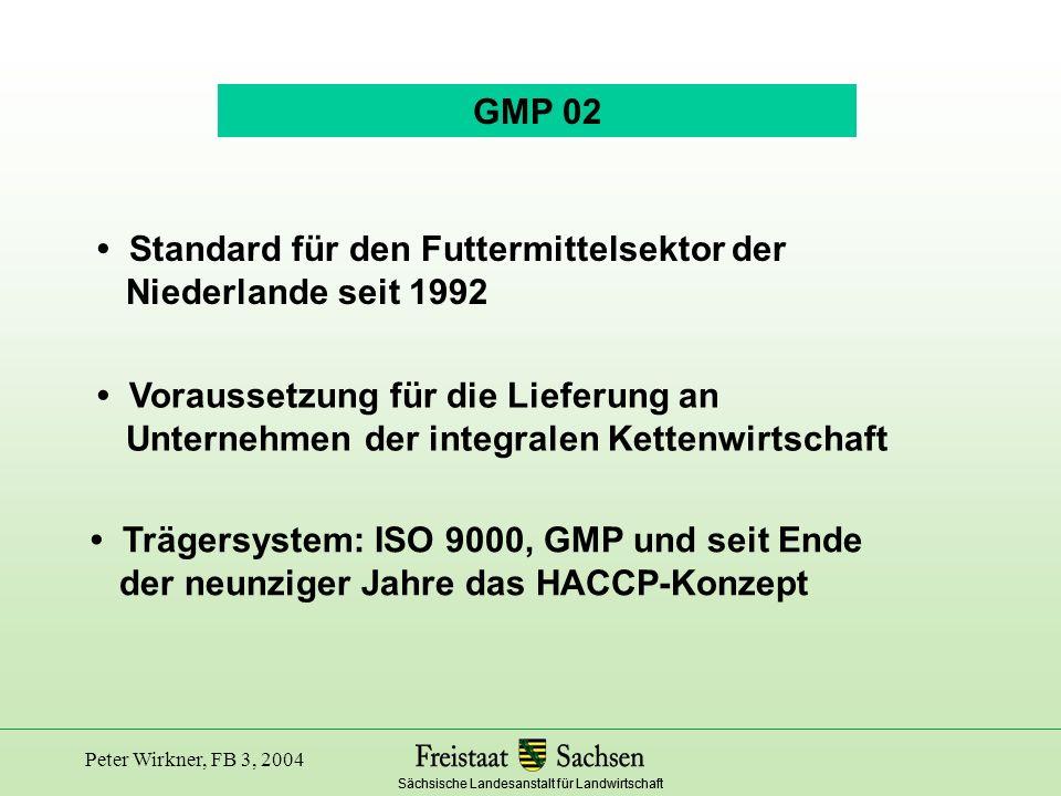 • Standard für den Futtermittelsektor der Niederlande seit 1992