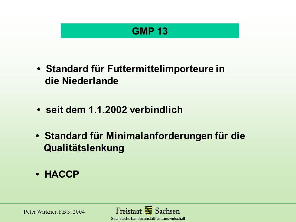 • Standard für Futtermittelimporteure in die Niederlande