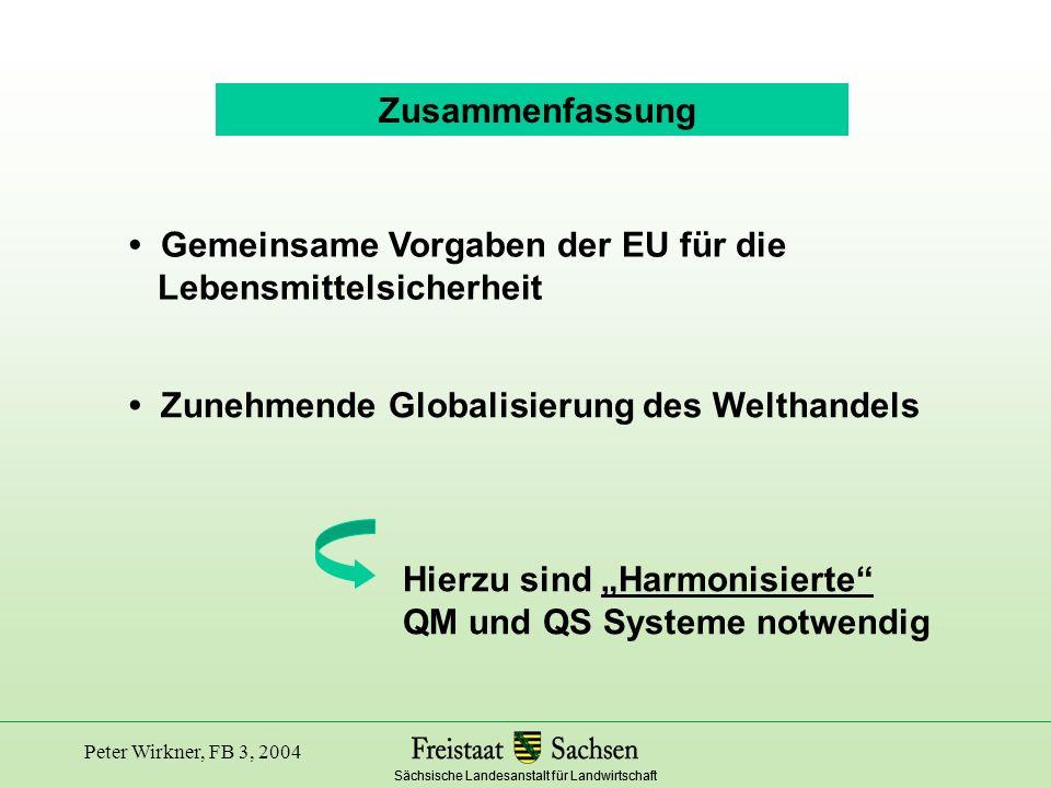 • Gemeinsame Vorgaben der EU für die Lebensmittelsicherheit