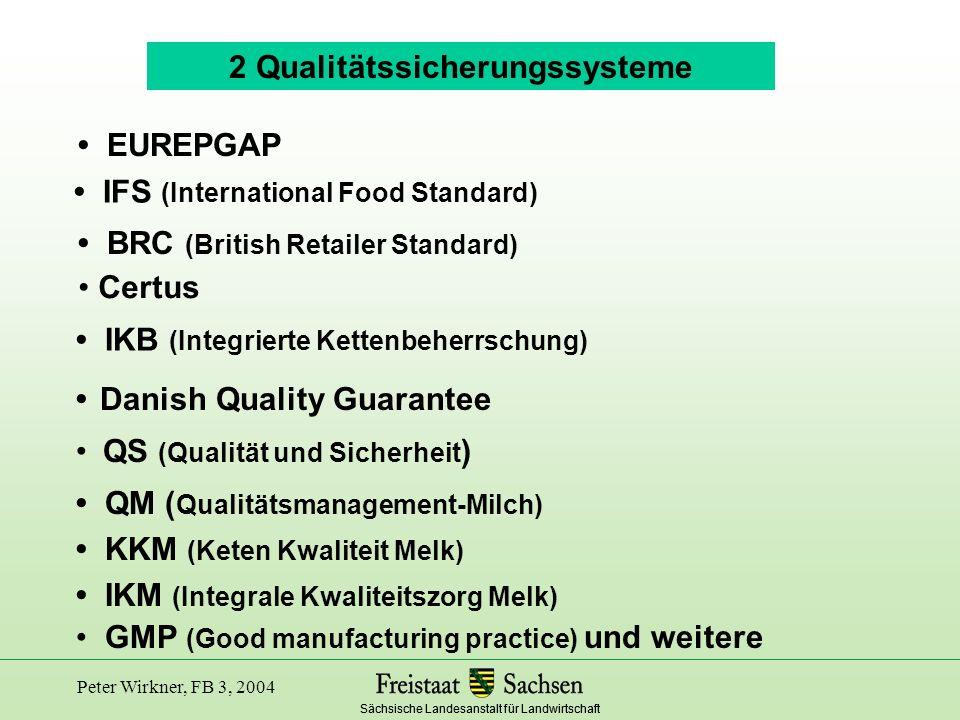 2 Qualitätssicherungssysteme