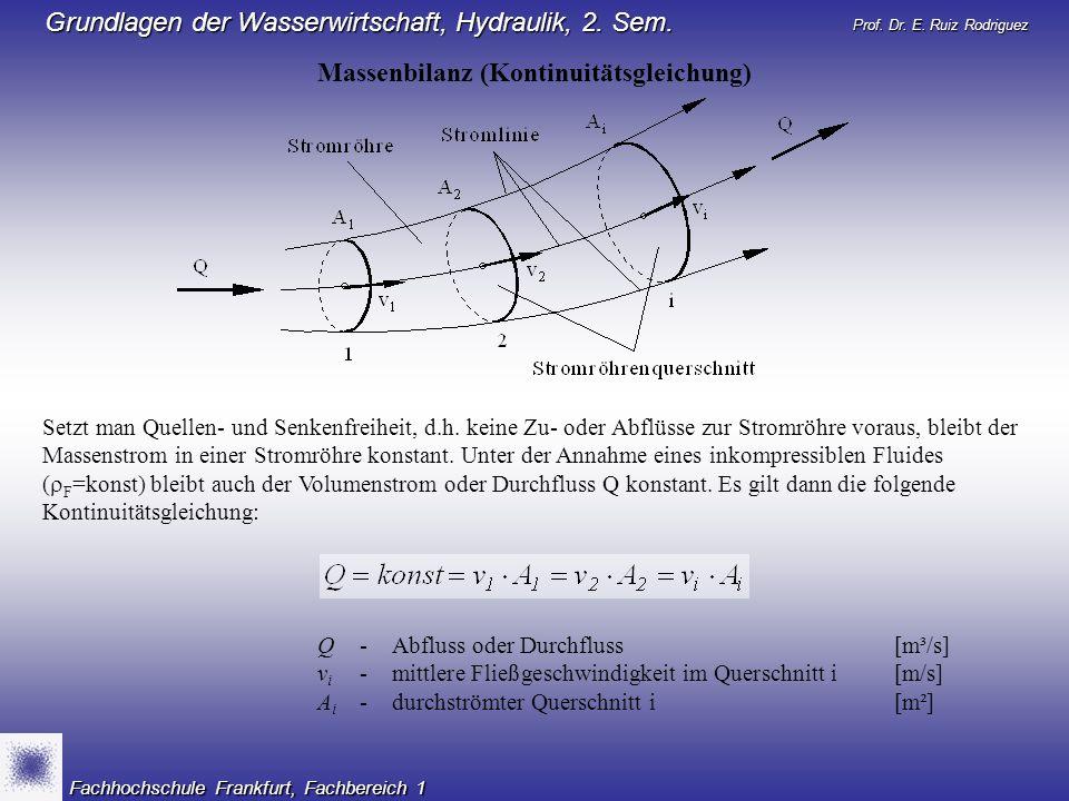 Massenbilanz (Kontinuitätsgleichung)