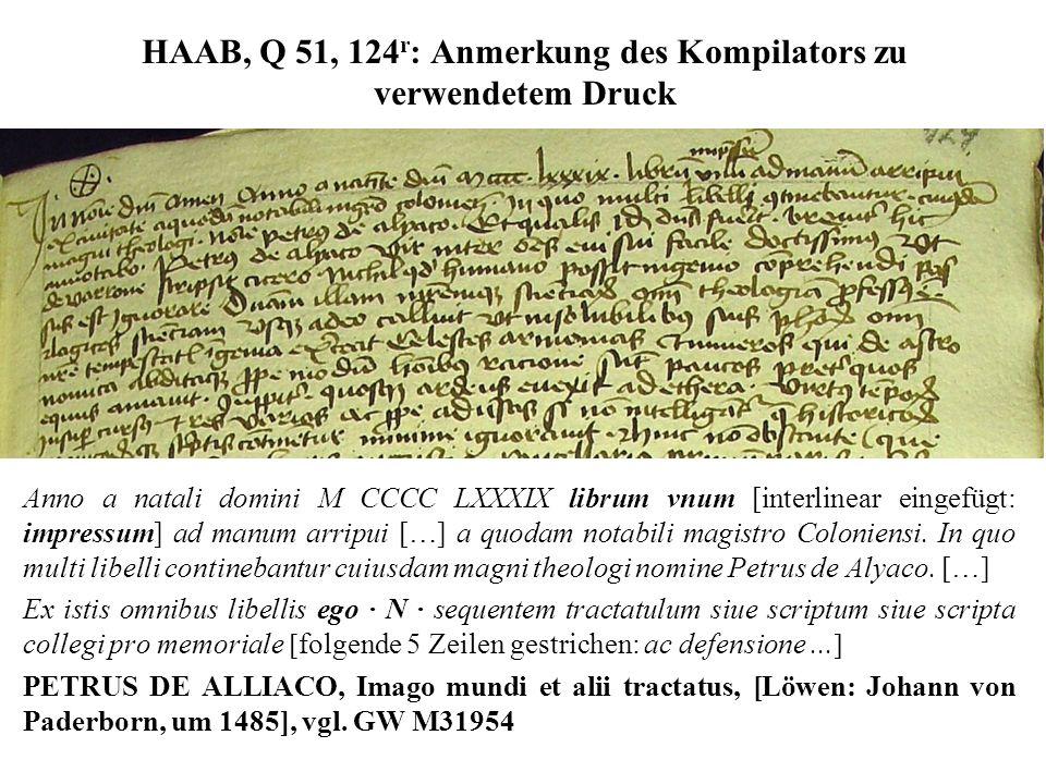 HAAB, Q 51, 124r: Anmerkung des Kompilators zu verwendetem Druck