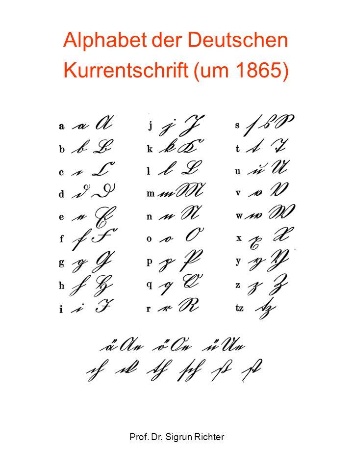 Alphabet der Deutschen Kurrentschrift (um 1865)