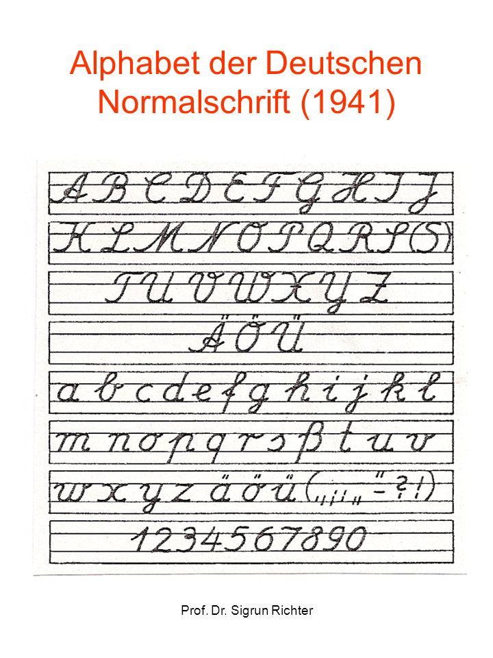 Alphabet der Deutschen Normalschrift (1941)