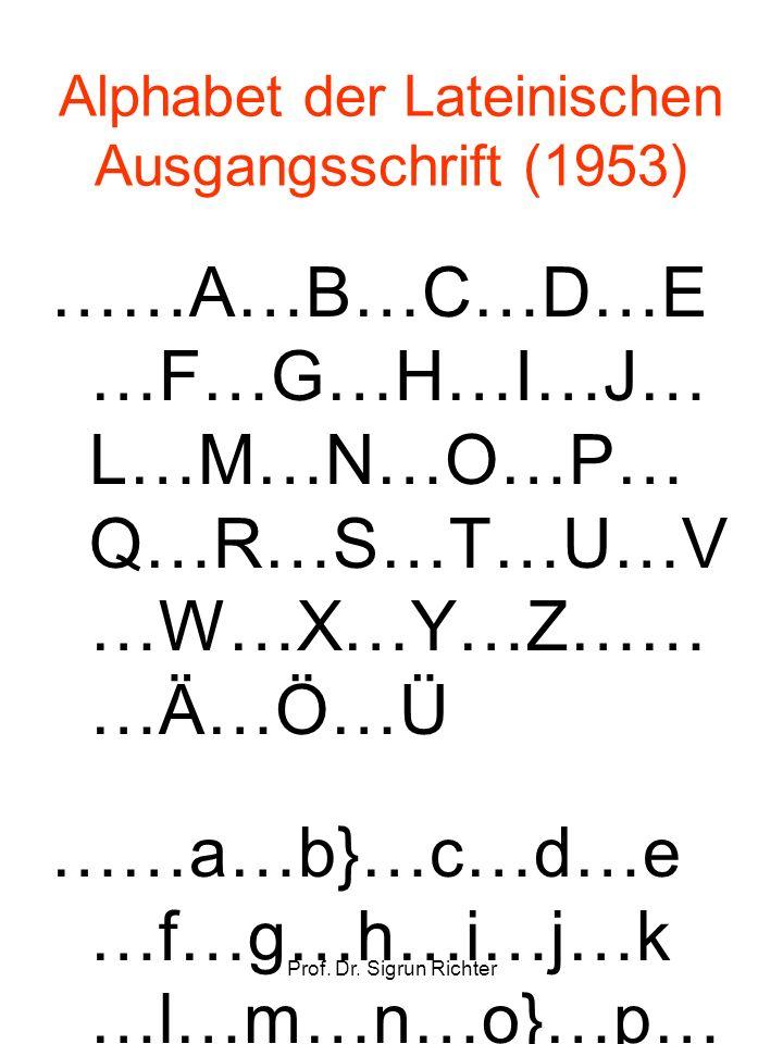 Alphabet der Lateinischen Ausgangsschrift (1953)