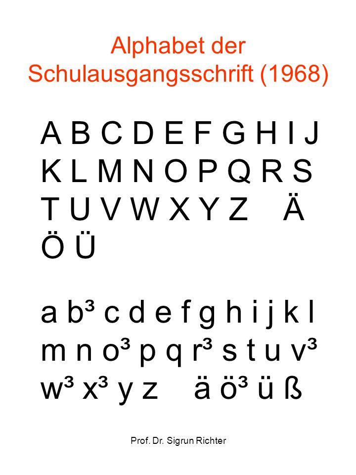 Alphabet der Schulausgangsschrift (1968)