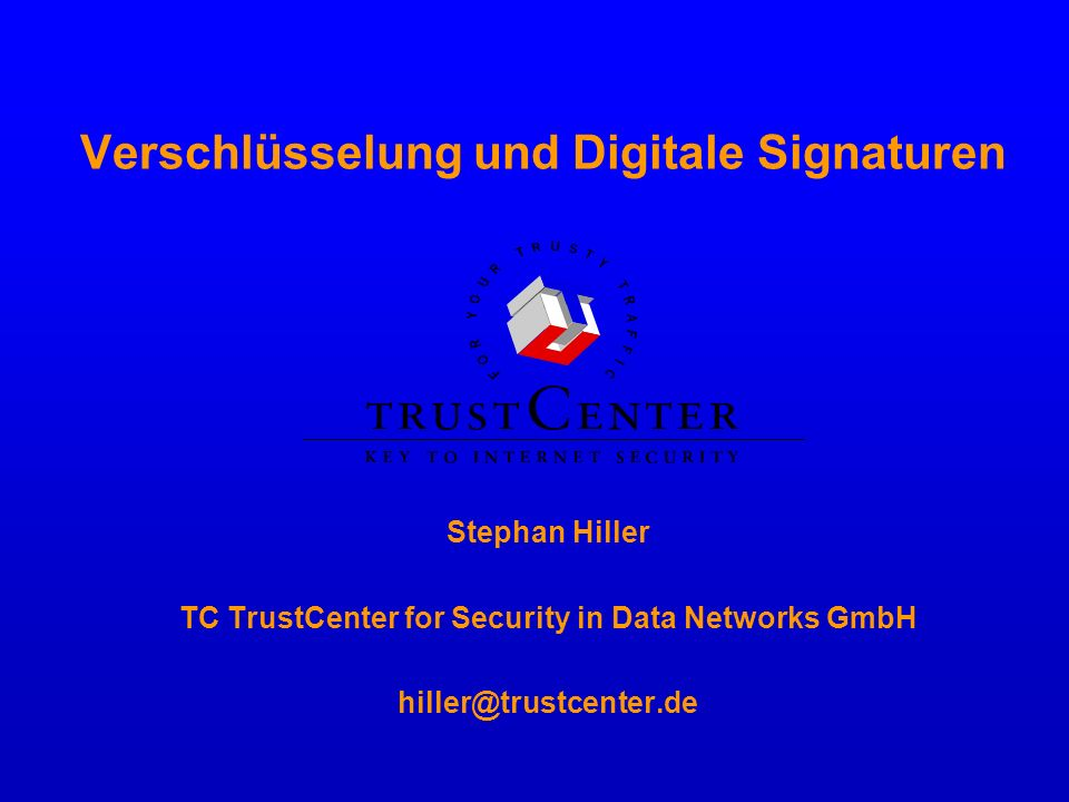 Verschlüsselung und Digitale Signaturen