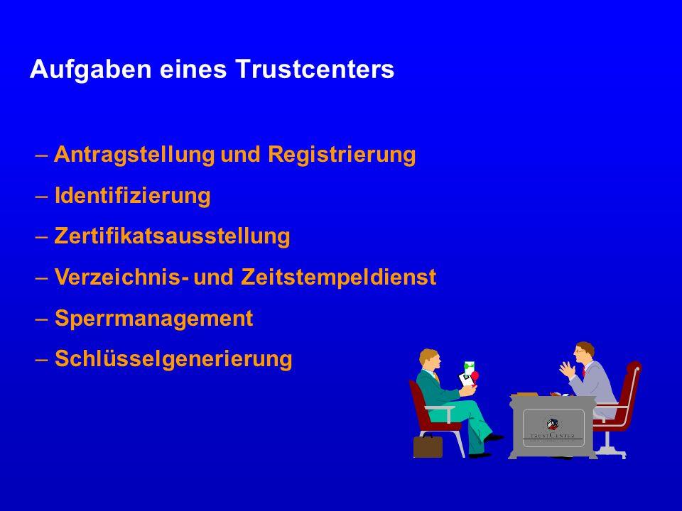 Aufgaben eines Trustcenters
