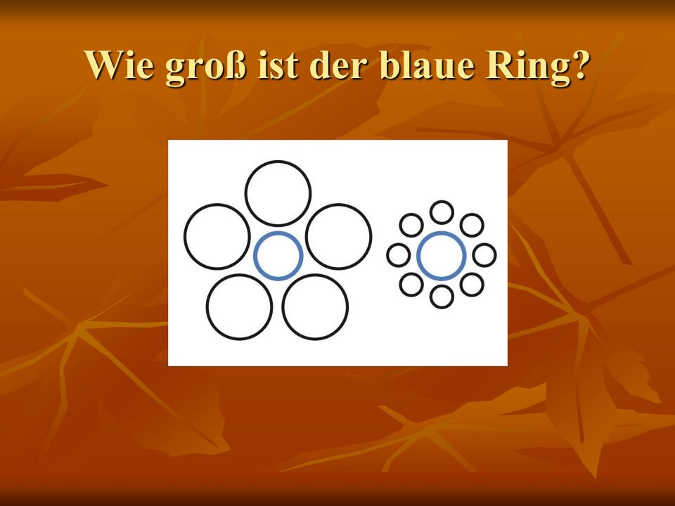 Wie groß ist der blaue Ring