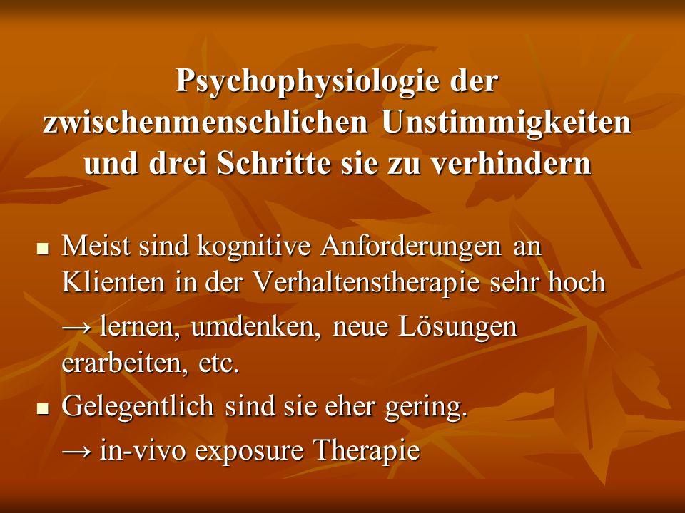 Psychophysiologie der zwischenmenschlichen Unstimmigkeiten und drei Schritte sie zu verhindern