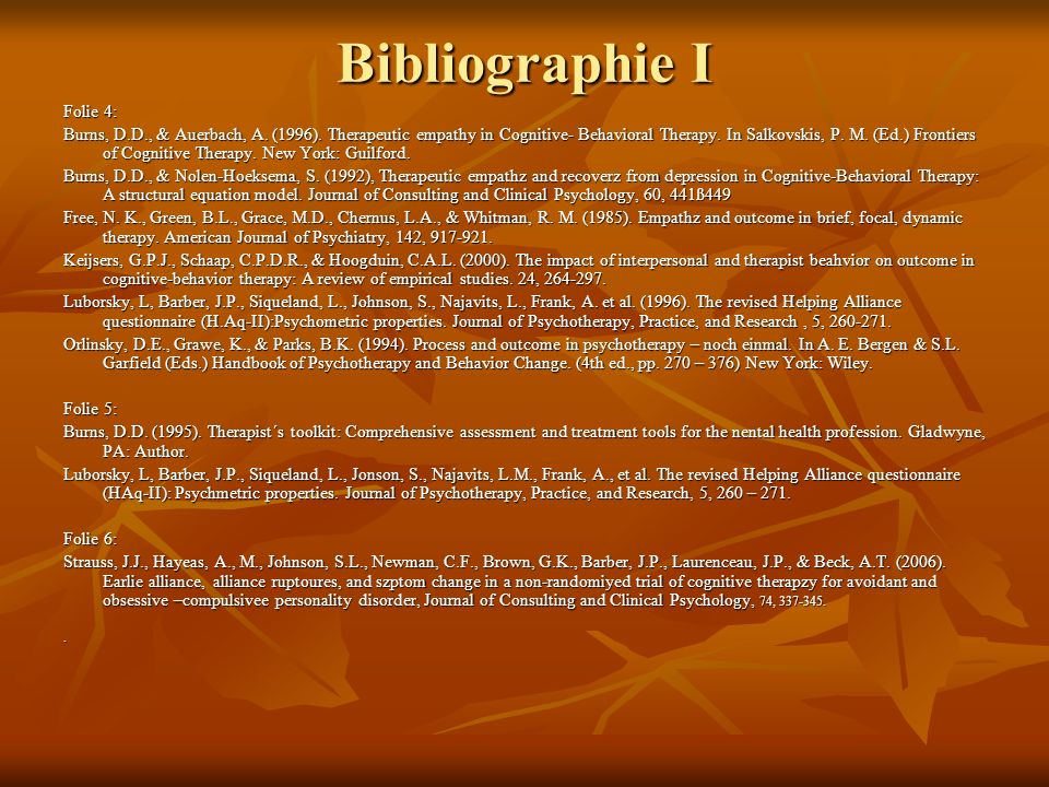 Bibliographie I Folie 4: