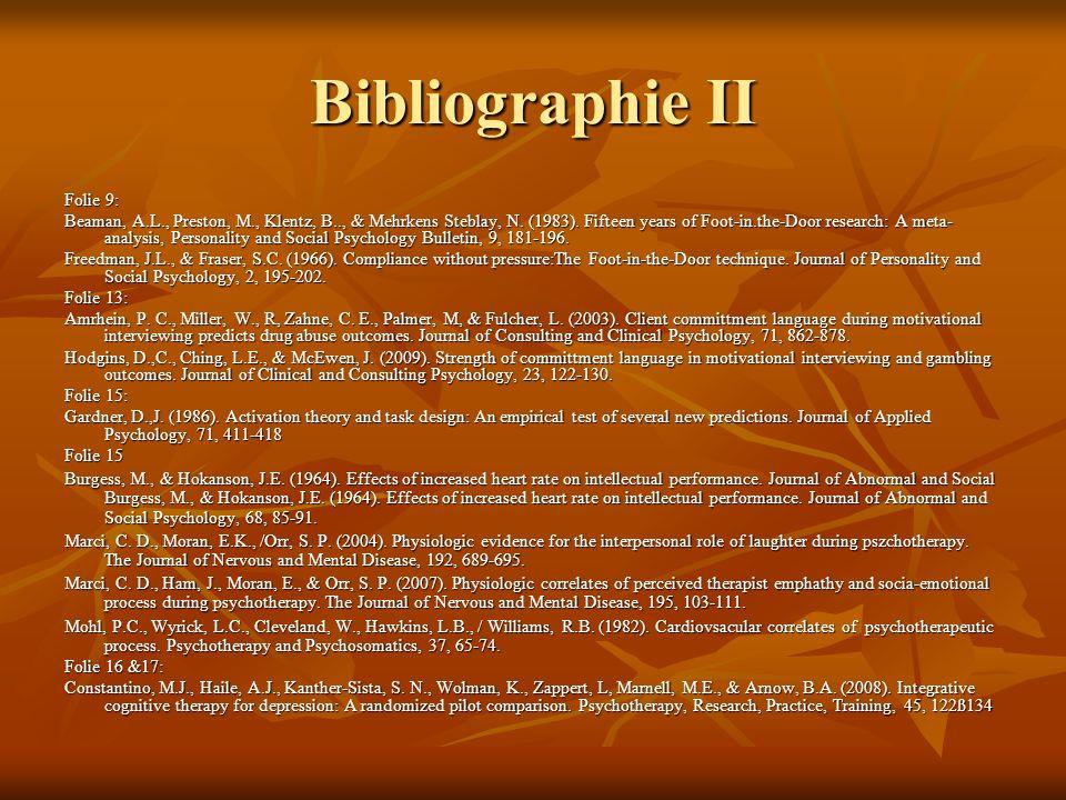 Bibliographie II Folie 9: