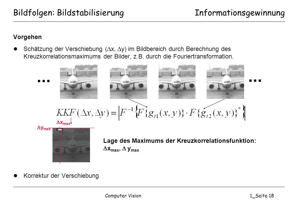 Bildfolgen: Bildstabilisierung