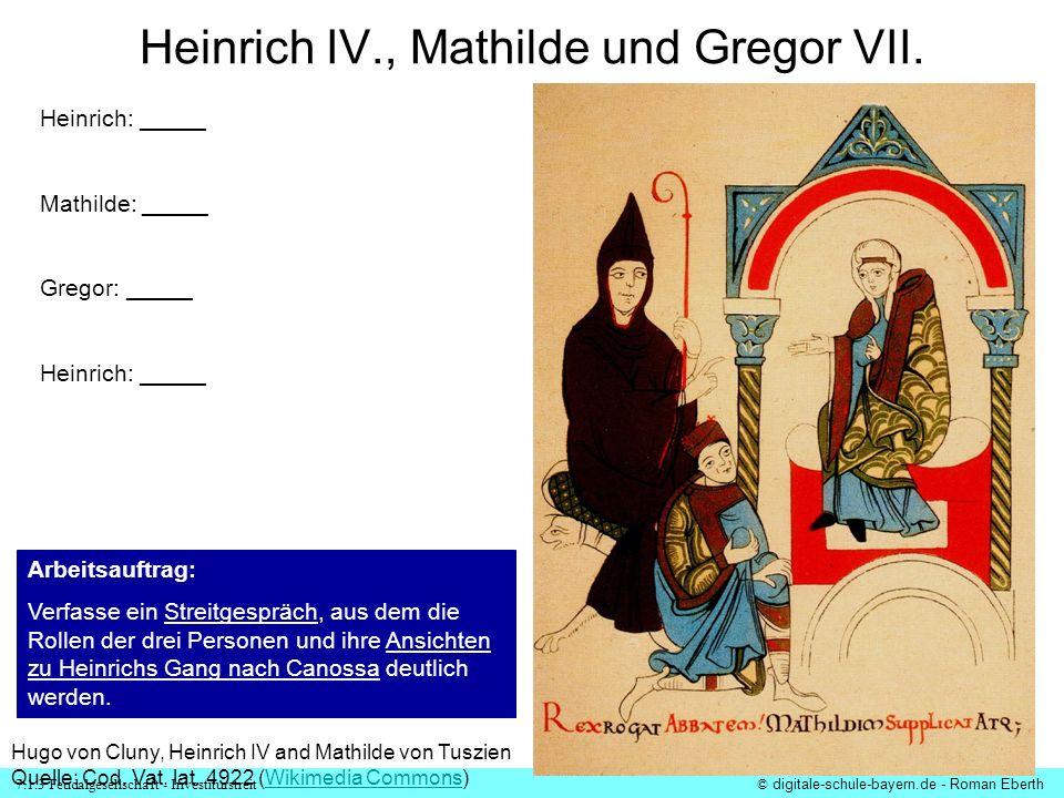 Heinrich IV., Mathilde und Gregor VII.