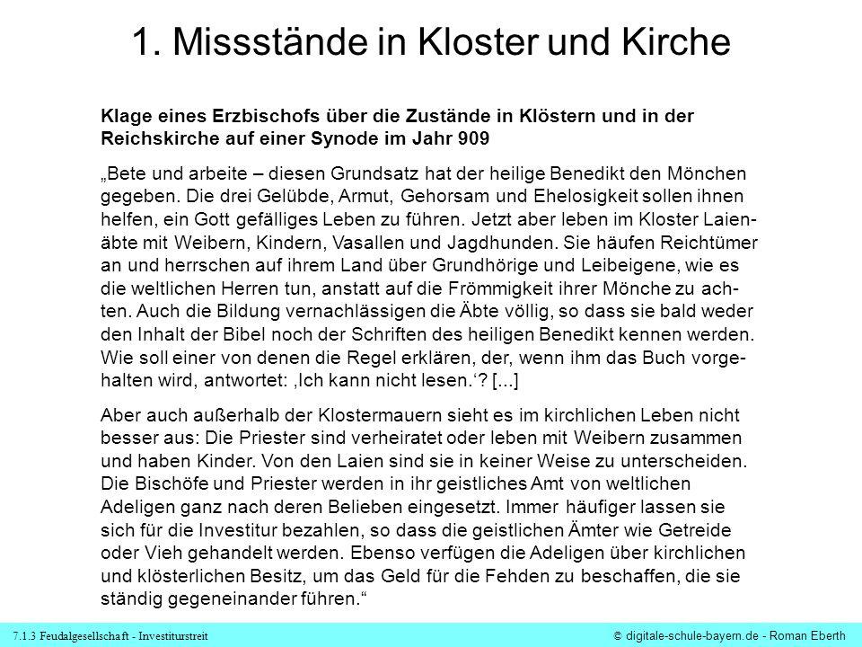1. Missstände in Kloster und Kirche