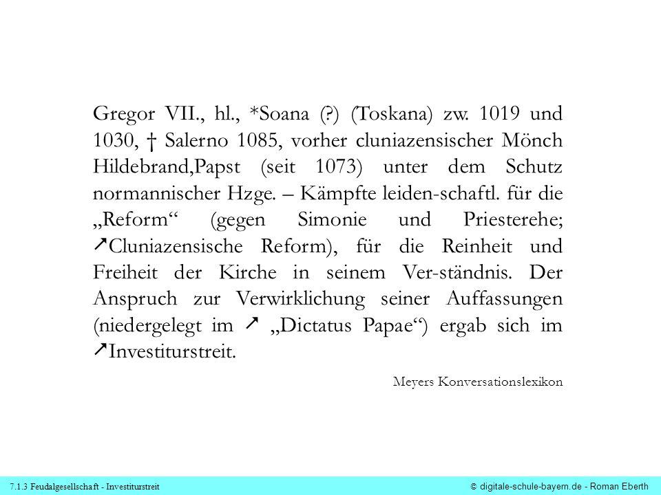 Gregor VII. , hl. ,. Soana (. ) (Toskana) zw