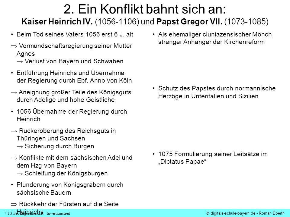 2. Ein Konflikt bahnt sich an: Kaiser Heinrich IV