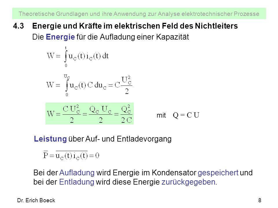 4.3 Energie und Kräfte im elektrischen Feld des Nichtleiters