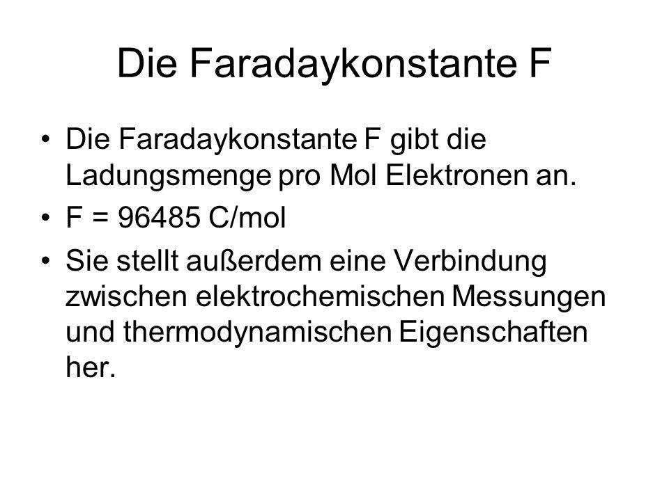 Die Faradaykonstante F