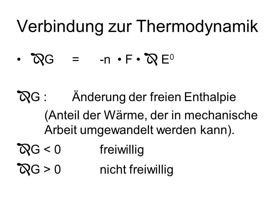 Verbindung zur Thermodynamik