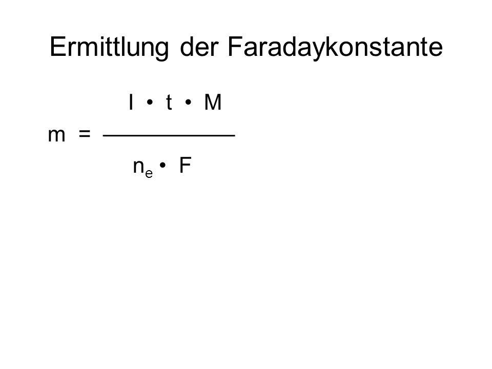 Ermittlung der Faradaykonstante