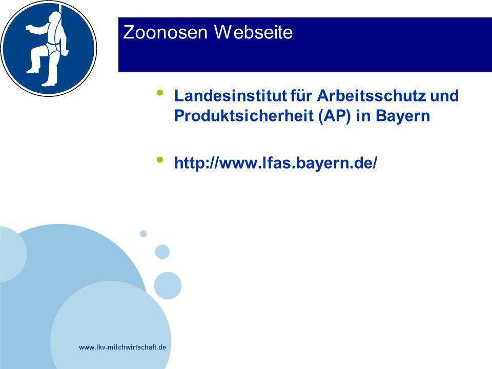 Zoonosen Webseite Landesinstitut für Arbeitsschutz und Produktsicherheit (AP) in Bayern.