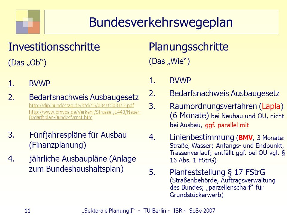 Bundesverkehrswegeplan