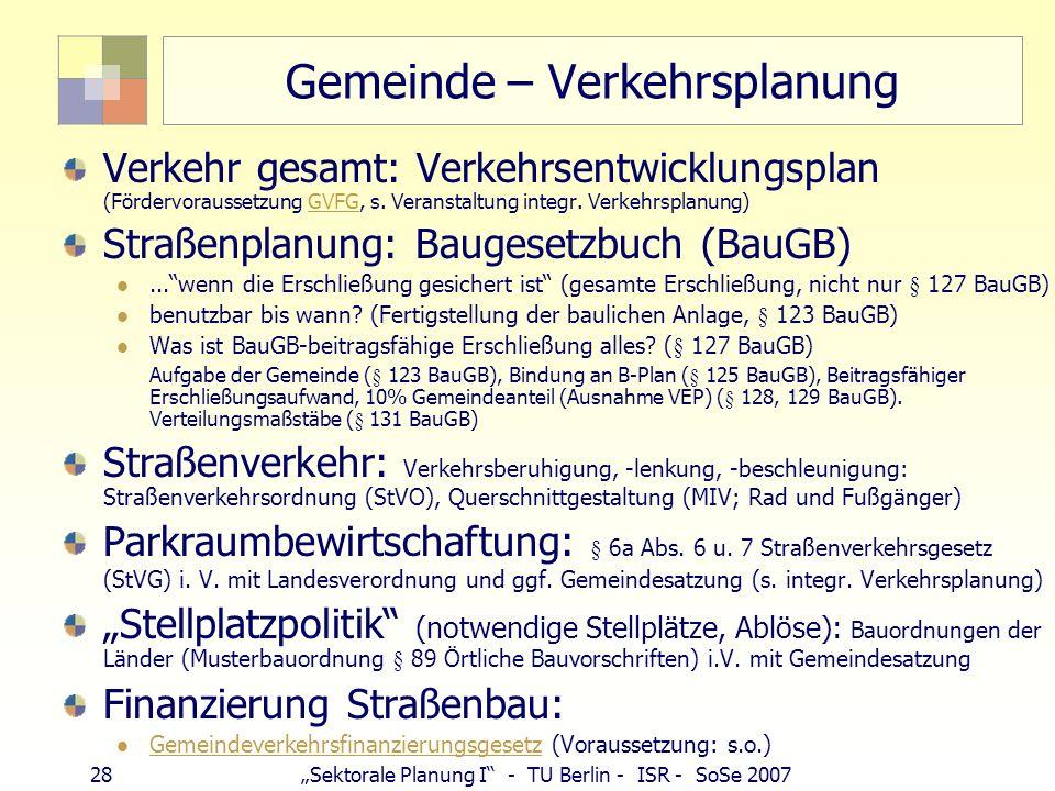 Gemeinde – Verkehrsplanung