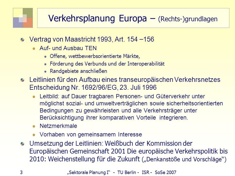 Verkehrsplanung Europa – (Rechts-)grundlagen