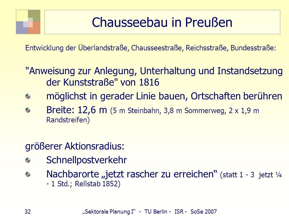 Chausseebau in Preußen