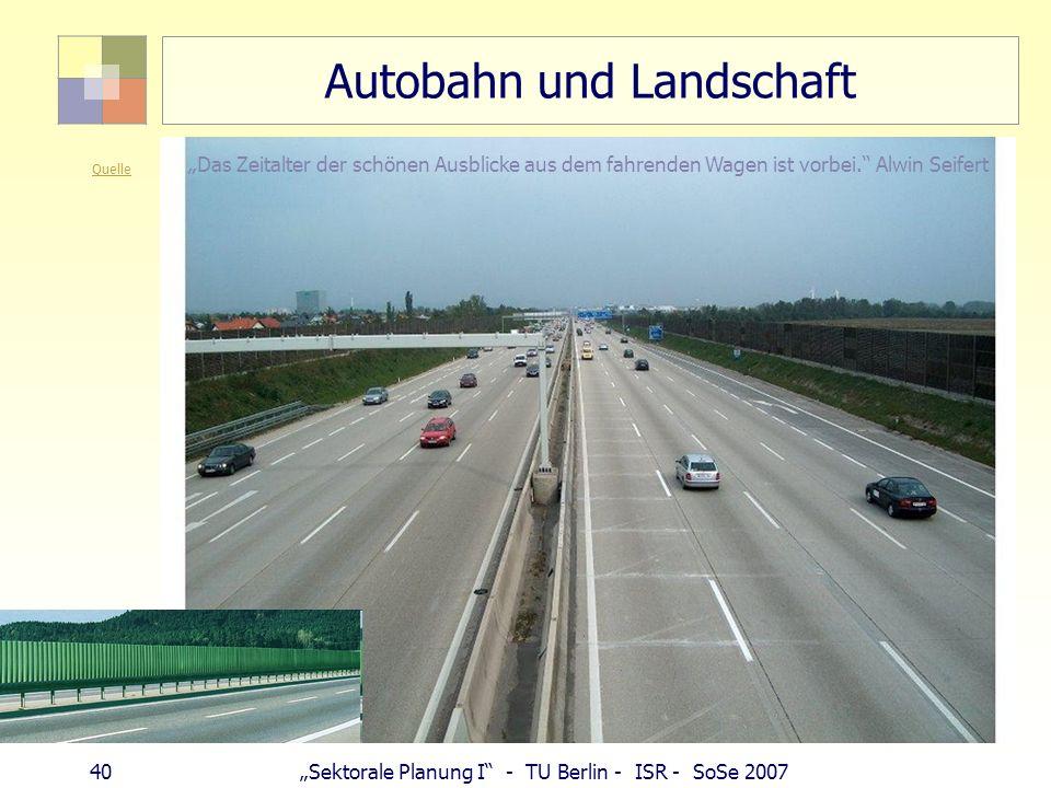 Autobahn und Landschaft