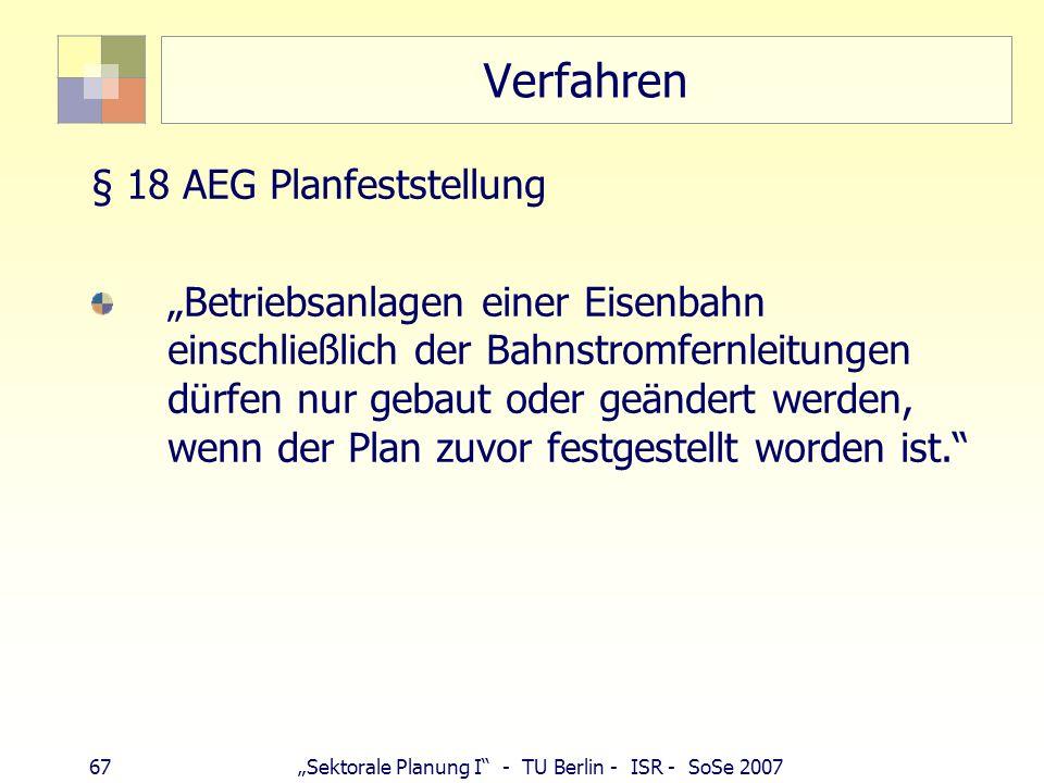 Verfahren § 18 AEG Planfeststellung
