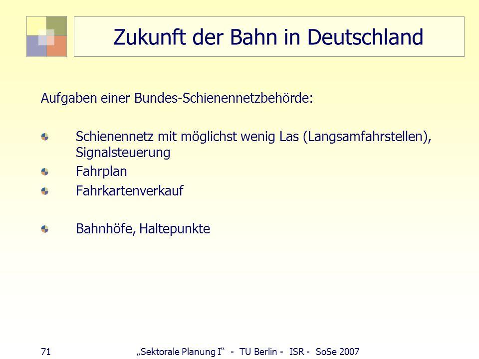 Zukunft der Bahn in Deutschland