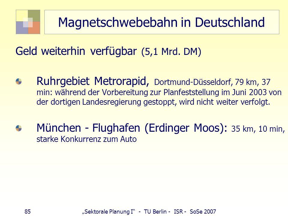 Magnetschwebebahn in Deutschland