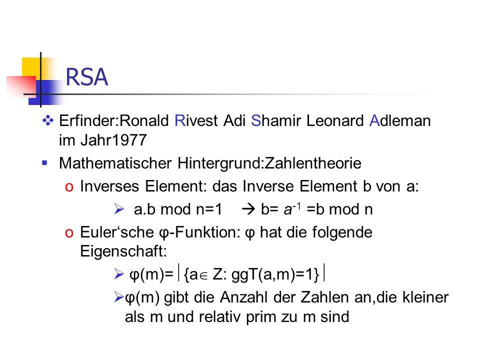 RSA Erfinder:Ronald Rivest Adi Shamir Leonard Adleman im Jahr1977
