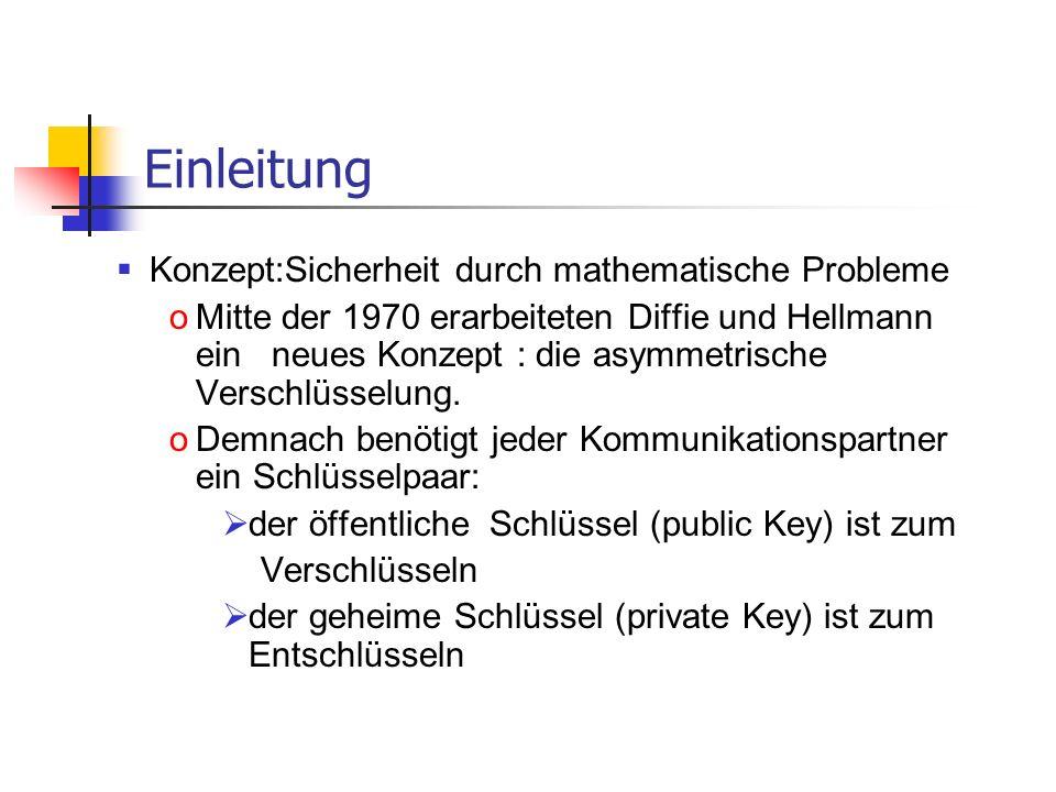 Einleitung Konzept:Sicherheit durch mathematische Probleme