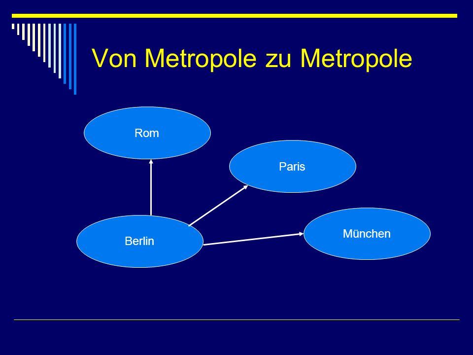 Von Metropole zu Metropole