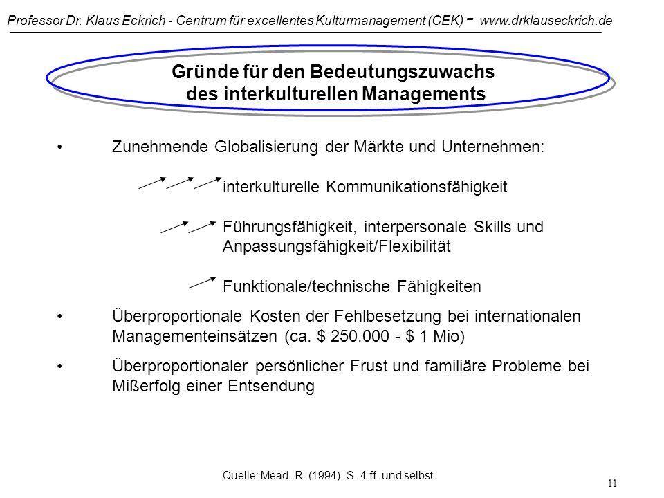 Gründe für den Bedeutungszuwachs des interkulturellen Managements